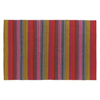 Agnes Small bright stripe cotton rug (H120 x W180cm)