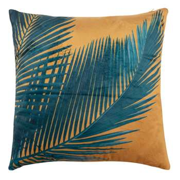 AGUAJE Orange Foliage Print Cushion Cover (H40 x W40cm)