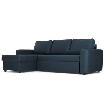 Aidian Corner Storage Sofa Bed, Regal Blue (H90 x W243 x D157cm)