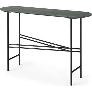 Ailish Console Table, Green Marble (H76 x W111 x D31cm)