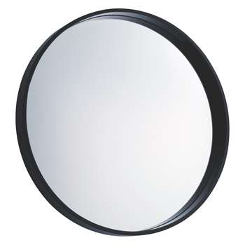 Habitat Aimee Black High Gloss Round Wall Mirror (Diameter 65cm)