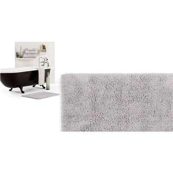 Aire Reversible Bath Mat, Light Silver (50 x 80cm)