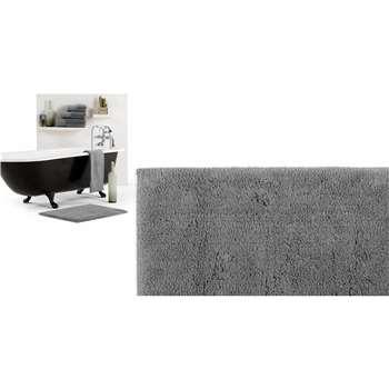 Aire Reversible Bath Mat, Slate (50 x 80cm)