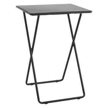 Habitat Airo Black Metal Folding Side Table (H66 x W48.5 x D37cm)