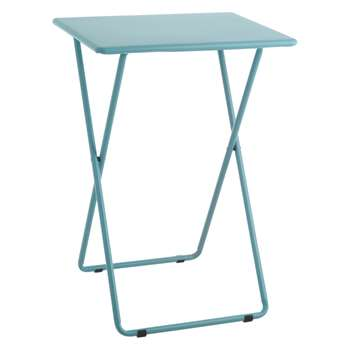Habitat Airo Sea Blue Metal Folding Side Table (H66 x W48.5 x D37cm)