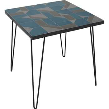 Akai bistro table, blue (75 x 70cm)