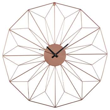 AKIMI copper metal wire clock (Diameter 80cm)