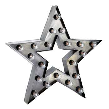 ALABAMA metal industrial star wall light (H80 x W80 x D10cm)