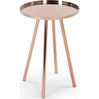 Alana Bedside Table, Copper (H59 x W41 x D41cm)