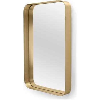 Alana Rectangular Mirror, Brass (80 x 50cm)