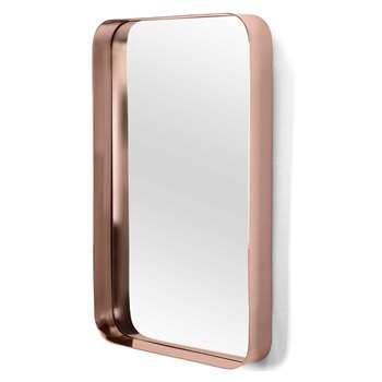 Alana Rectangular Mirror, Copper (H80 x W50 x D8cm)
