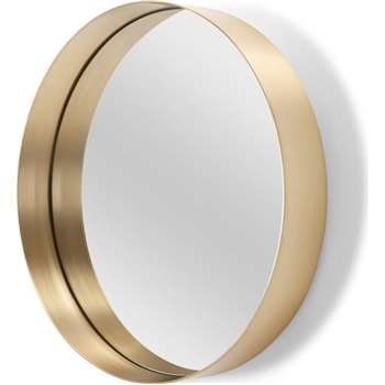 Alana Round Mirror, Brushed Brass (Diameter 50cm)