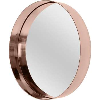 Alana Round Wall Mirror Extra Large, Copper (Diameter 80cm)