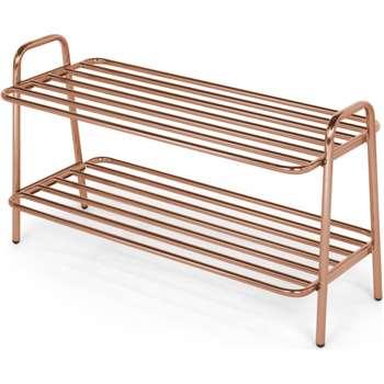 Alana Shoe Rack, Copper (H40 x W71 x D32cm)