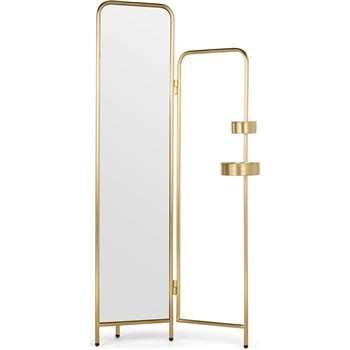 Alana Valet, Brushed Brass (H180 x W115 x D23cm)