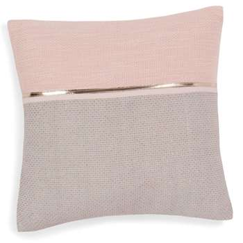 ALANNA pink/grey cotton cushion cover (40 x 40cm)