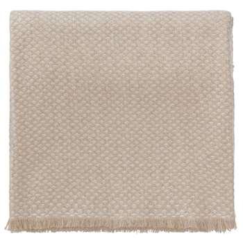 Alashan Cashmere Blanket, Beige & Cream (140 x 200cm)