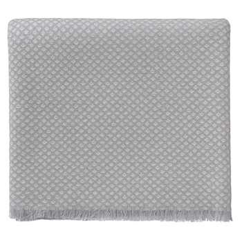 Alashan Cashmere Blanket, Light Grey & Cream (140 x 200cm)