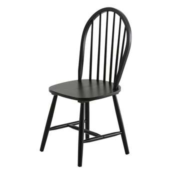 ALBA Black Rubber Wood Vintage Chair (93 x 46cm)
