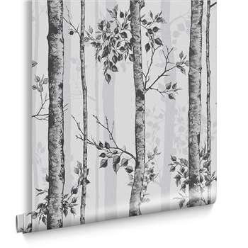 Albero Black And White Wallpaper (H1000 x W52cm)