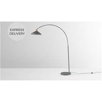 Albert Overreach Floor Lamp, Charcoal Grey (H176 x W121 x D35cm)