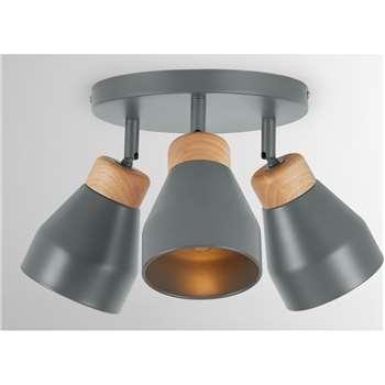 Albert Spotlight Round, Charcoal (H22 x W29 x D29cm)