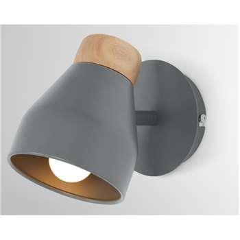 Albert Wall Light, Charcoal Grey (H17 x W12 x D21cm)