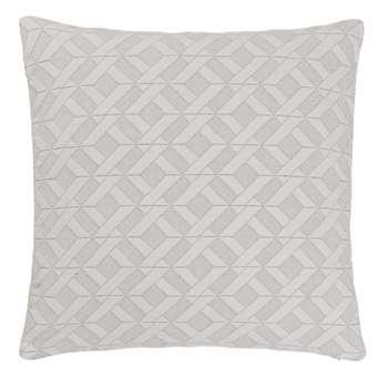 Aldeia Cushion Cover, Cream & Black Chevron Design (50 x 50cm)