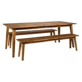 Alden Acacia 8 Seat Garden Dining Set (H75 x W200 x D90cm)