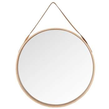 ALDEN - Round Birch Wall Mirror (Diameter 59cm)