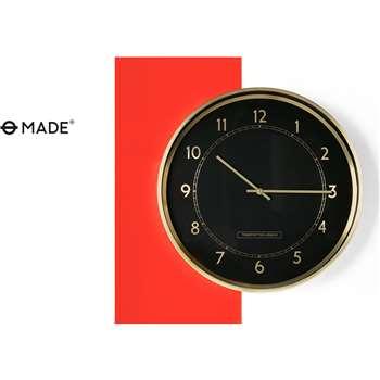 Aldwych Wall Clock, Polished Brass (40 x 40cm)