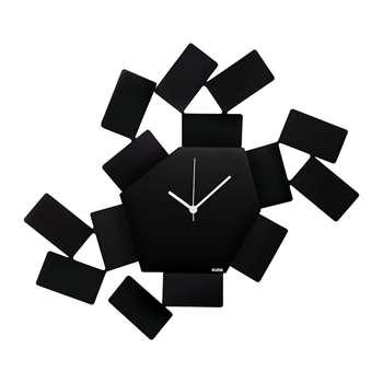 Alessi - La Stanza Dello Scirocco Wall Clock - Large - Black (H33.5 x W46cm)