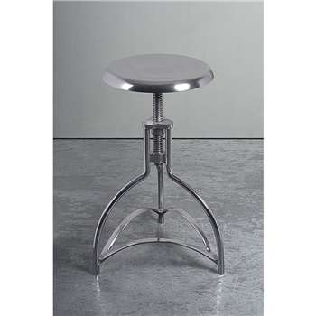 Alexandr Industrial Style Adjustable Metal Bar stool (53-67 x 32cm)