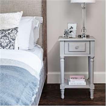 Alexandre Bedside Table - Grey (H66 x W40 x D30cm)