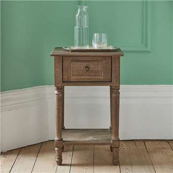 Alexandre Bedside Table Natural Wood (H65 x W40 x D30cm)