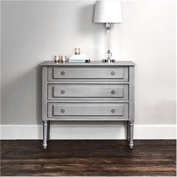 Alexandre Chest Of Drawers - Grey (H80 x W90 x D40cm)