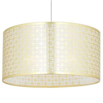Alfie Pendant Light Shade Gold (H20 x W40 x D40cm)