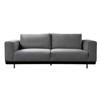 Alfie Three Seat Sofa - Dove Grey (H66 x W221 x D100cm)