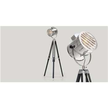 Alfred Tripod Floor Lamp, Black (H165 x W75 x D24cm)