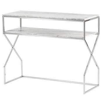 Alhambra Silver Console Table (H80 x W100 x D40cm)