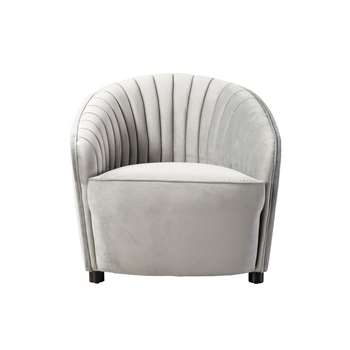 Alice Armchair - Dove Grey (H80 x W83 x D91cm)