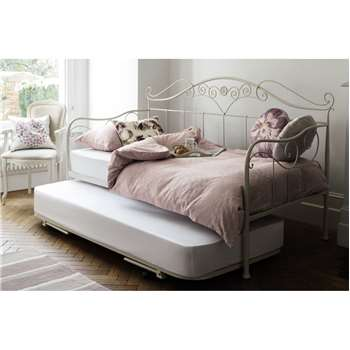 Alice Ivory Day Bed Open Coil Mattress (118 x 100cm)