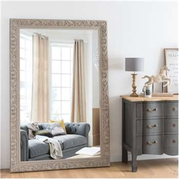 ALIENOR - Beige Carved Mirror (H180 x W120 x D4.3cm)