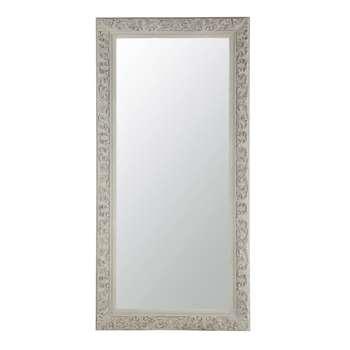 ALIENOR wooden mirror, grey beige (180 90cm)