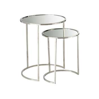 ALISTAIR 2 Mirror Nesting End Tables (56 x 45cm)