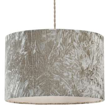 Allura Pendant Light Shade Grey (H23 x W35.5 x D35.5cm)
