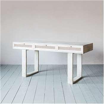 Almirah Cane Desk (H77 x W160 x D60cm)
