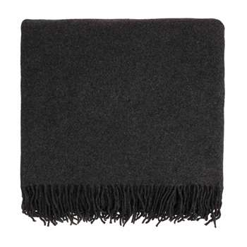 Almora Cashmere Blanket, Charcoal (140 x 200cm)