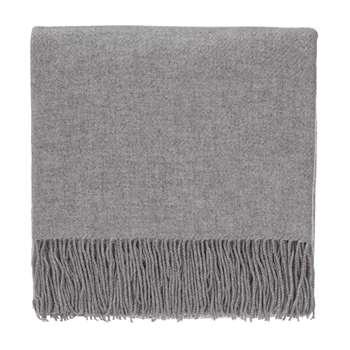 Almora Cashmere Blanket, Light Grey (140 x 200cm)