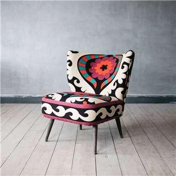Alpana Suzani Cocktail Chair (H78 x W65 x D49.5cm)